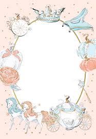 Cinderella Carriage Baby Shower Invitation Template Free En