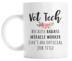 funny vet tech coffee mug