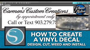 How To Create A Vinyl Decal Silhouette Studio Cameo 3 Install On Vehicle Window Youtube