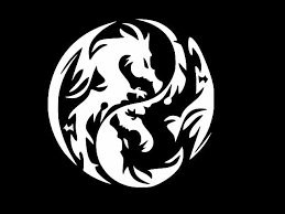 Dragon Yin Yang Tribal Decal Vinyl Removable Decorative Sticker For Wall Car For Sale Online Ebay