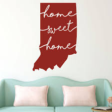 Indiana State Home Sweet Home Wall Decal Vinyl Decor Customvinyldecor Com