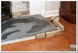 how to paint a concrete hearth to look