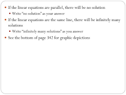 solving linear equations and