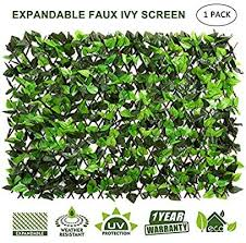 Amazon Com Doeworks Expandable Fence Privacy Screen For Balcony Patio Outdoor Faux Ivy Fencing Panel In 2020 Privacy Screen Privacy Screen Outdoor Ivy Plant Indoor