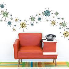 Atomic Starburst 50s Style Decals Medium Set Of 19 Retro Home Decor Retro Home Home Decor