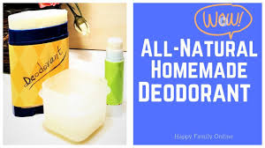 all natural homemade deodorant super