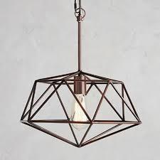 saturn geometric one light pendant