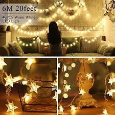Goodtechnical Star String Lights Battery Powered 40 Warm White Twinkle Led Indoor And Outdoor Decoration Ideal For Kids Room Bedroom Wall