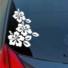 Hibiscus Flowers Hawaiian Sticker Maui Kauai Tropical Lei Hawaii Paradise Hi 808 Ebay