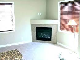 corner stone fireplace with tv