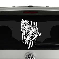American Flag And Grim Reaper With Ar15 Vinyl Decal Sticker Cosmic Frogs Vinyl