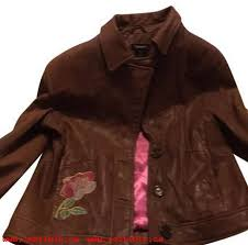 guess brown leather jacket 16834018