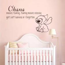 Ohana Quote Lilo And Stitch Inspired Vinyl Wall Decal Family Means Nobody Get Left Behind Or Forgotten Vinyl Wall Decals Wall Decalsvinyl Wall Aliexpress