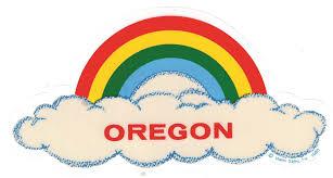 Oregon Rainbow Cloud Decal