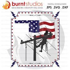 Usa America Oklahoma Ok Lineman Linemen Power Climbing Hooks Spikes Gaffs Shirt Design Decal Design Svg Png Dxf Eps File Burnt Studios