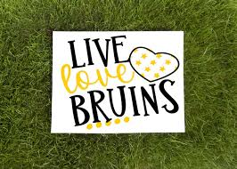 Live Love Bruins Vinyl Decal Hockey Team Logo Car Decal Mug Tumbler Water Bottle Sticker Sports Boston Bruins Decal By Kgde Vinyl Decals Bottle Stickers Bruins