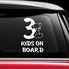 Kids On Board Car Sticker Decal Car Window Decal Baby Decal New Baby Gift Baby On Board Sign Babies On Board Children Sign 253 Wish