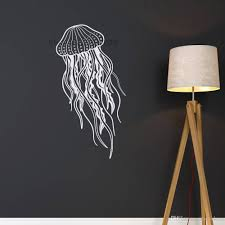 New Sea Themed Jellyfish Wall Decals Removable Vinyl Ocean Animal Wall Sticker Nursery Bathroom Decor Waterproof Wallpaper Designer Wall Decals Designer Wall Stickers From Joystickers 8 06 Dhgate Com