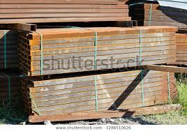 Rusty Rectangular Metal Pipe Packs Stored Stock Photo Edit Now 1286510626