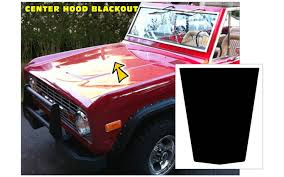 Graphic Express 1966 77 Ford Bronco Blackout Hood Decal