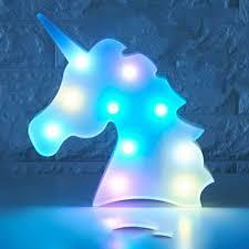 Colorful Unicorn Head Led Night Light Up Table Lamp Kids Bedroom Christmas Decor Ebay