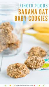 basic banana oat baby cookies baby