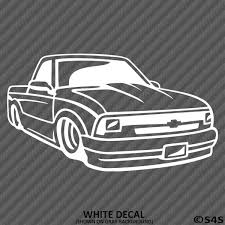 Chevy S10 Truck Lowrider Silhouette Vinyl Decal S4s Designs