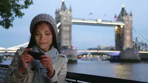Asian Tourist in London Taking Stock Footage Video (100% Royalty ...