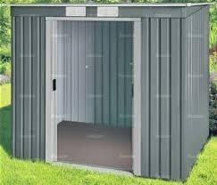 metal shed 360 pent roof double door