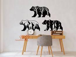 Bear Vinyl Wall Decal Kids Teen And Nursery Wall Decor Etsy