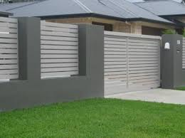Amazing Gray And White Fence Color Modern Fence Design Fence Design Brick Fence