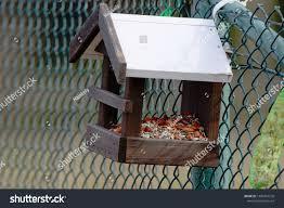 Bird Feeder Seeds Shape Little House Stock Photo Edit Now 1380716576
