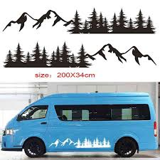 For Tree Mountain Decal Forest Vinyl Custom Nature Graphic Camper Rv Trailer Truck Custom Sticker Camper Rv Trailer Truck Da 25 Car Stickers Aliexpress