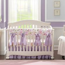 baby girl blush watercolor crib bedding