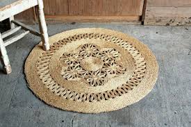 vintage straw rug woven rug jute rug