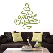 Merry Christmas Tree Wall Decals Home Decor Wall Decals