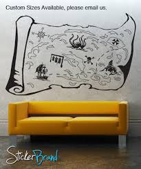 Vinyl Wall Decal Sticker Pirate Treasure Map Gfoster145 Stickerbrand