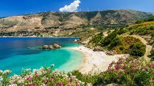vouti beach kefalonia island greece hd
