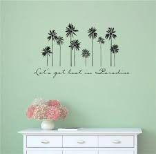 Bay Isle Home Let S Get Lost In Paradise Palm Trees Wall Decal Wayfair