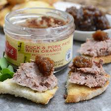 duck and orange pate pork and duck