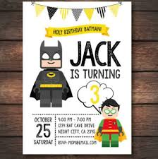 Cute Lego Batman Invitation En 2019 Cumpleanos Batman Fiesta De