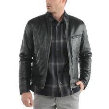 stylish genuine leather jacket jk27