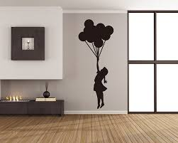 Banksy Floating Balloons Vinyl Decals Silhouette Wall Art Sticker