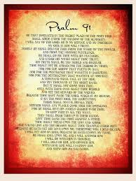 Psalm 91 Poster Bible Wall Decal Bible Wall Art Pdf Etsy
