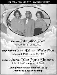 Sybil Simmons Obituary - Legacy.com
