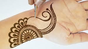circle mehndi designs step by step