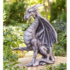 large outdoor dragon statue wayfair