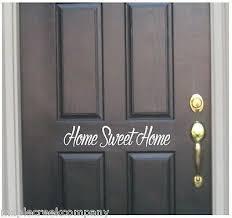 Home Sweet Home Door Window Decal Choose Size Vinyl Color Great Gift Aufont Ebay