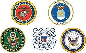 Amazon Com Military Vet Shop Us Army Branches Service Combo Pack S Window Bumper Sticker Decal 3 8 Automotive