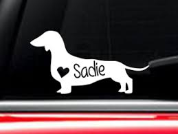 Dachshund Dog Car Decal With Custom Name Ebay